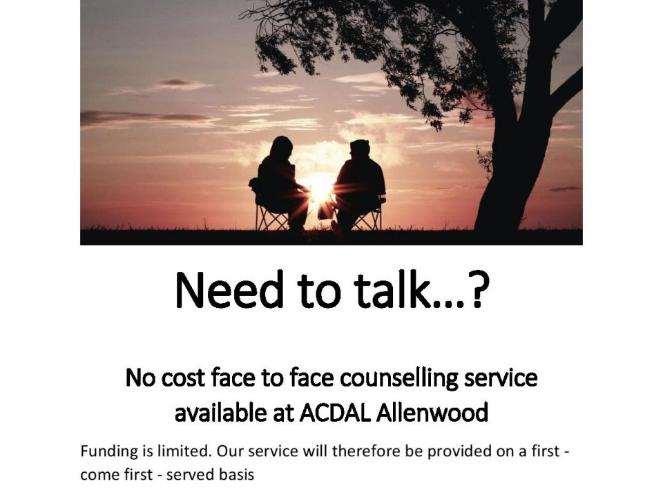 Counselling funding